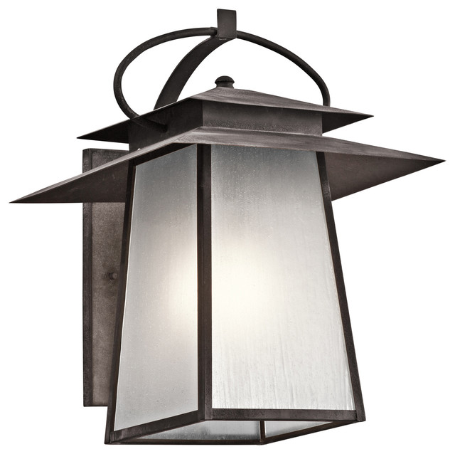 Kichler 1-Light Outdoor Wall Lantern - Weathered Zinc Exterior - Traditional - Outdoor Wall ...