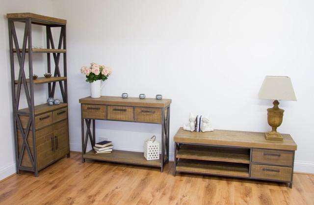 Aldiron Furniture Bundle Industrial Living Room