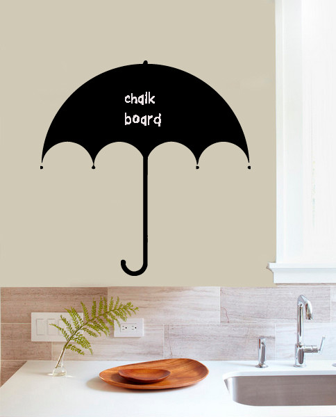 wall vinyl chalkboard sticker decal nice design umbrella a1630 kids wall decor