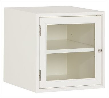 Modular Bath Cabinet with Glass Door, White - Traditional - Bathroom Cabinets And Shelves - by ...