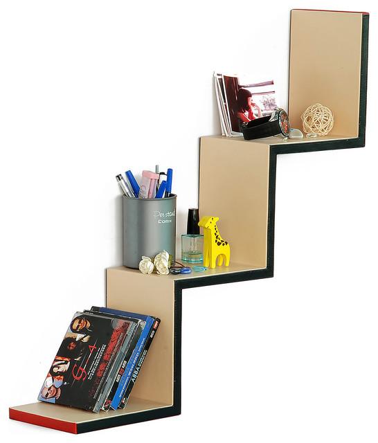 Love Life Ladder-Shaped Leather Shelf / Bookshelf