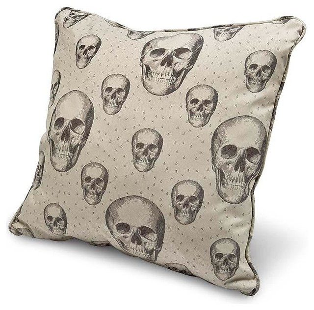 Big Square Throw Pillows : Regina Andrew Skalle Bone Large Square Pillow - Traditional - Decorative Pillows - by Candelabra