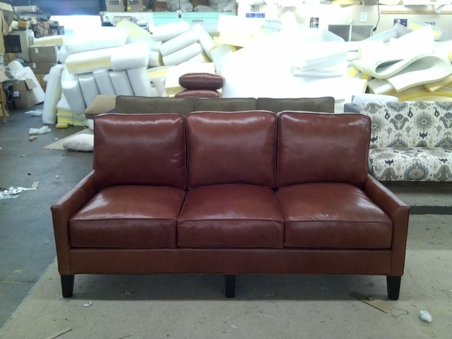 Eclectic Sofa : Trio Leather Sofa - Eclectic - Sofas - dallas - by Monarch Sofas