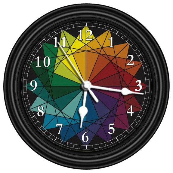 Color Wheel Unique Wall Clock Contemporary Wall Clocks