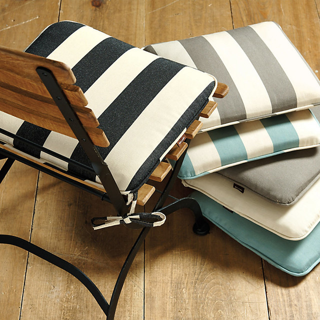 Giardino Dining Chair Cushion Canopy Stripe TaupeSand  : contemporary seat cushions from houzz.com size 640 x 640 jpeg 145kB