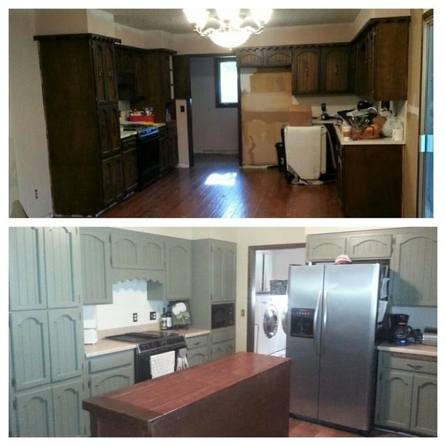 Cheap Temporary Kitchen Improvement Transitional
