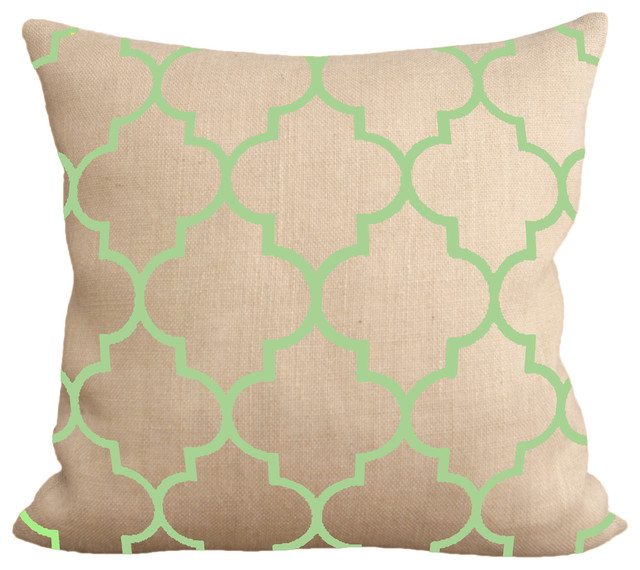 Celadon Morocco Pillow With Synthetic Down Insert - Mediterranean - Decorative Pillows - by ...