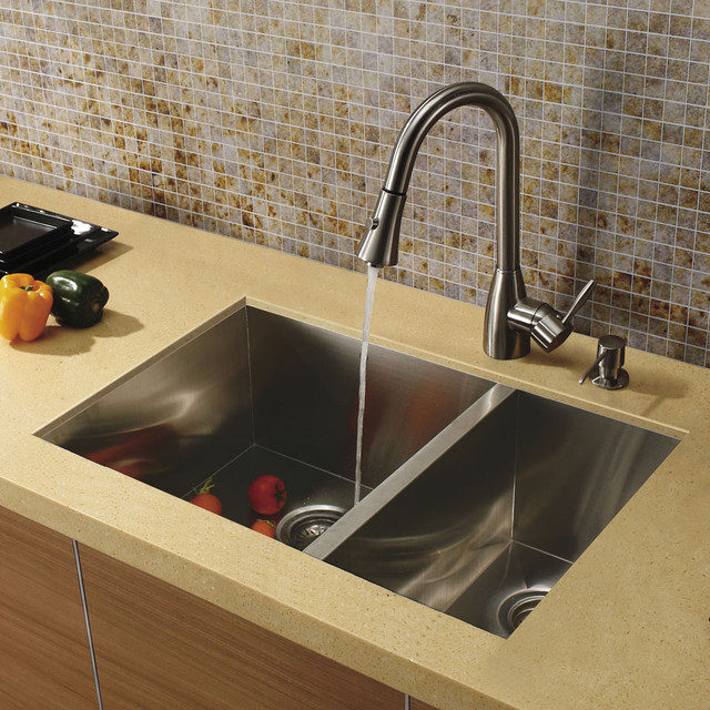 Vigo undermount stainless steel kitchen sink faucet and for Best kitchen sinks and faucets