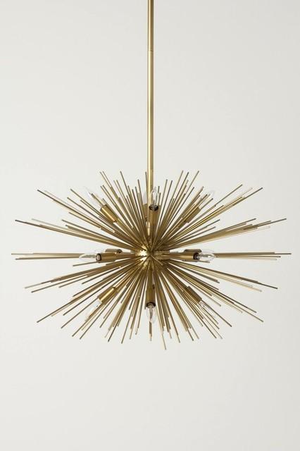 Mid Century Modern Sputnik Satellite Chandelier From