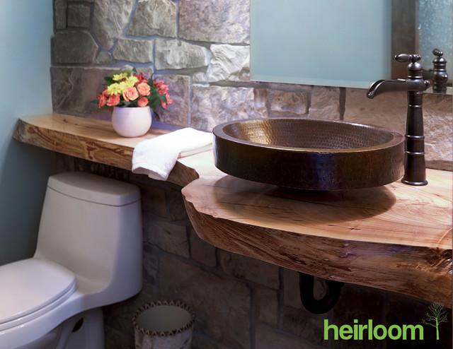 Live Edge Wood Furniture Reclaimed Wood Rustic Vanity