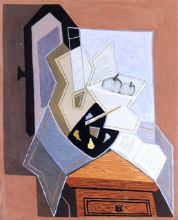 juan gris still life at the open window 20 x 25. Black Bedroom Furniture Sets. Home Design Ideas