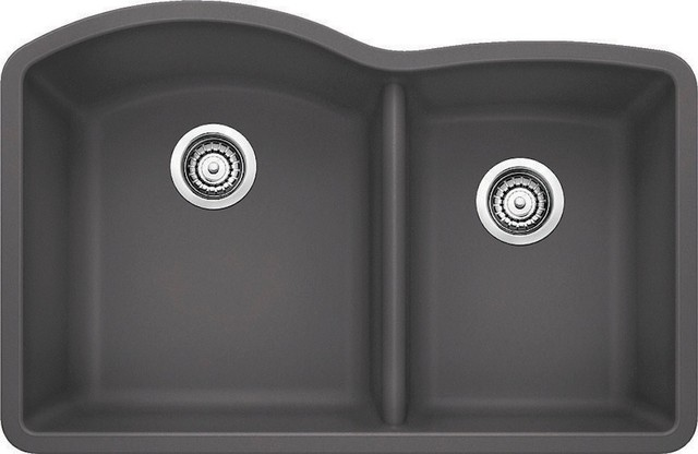Cinder Blanco Sink : Blanco Drop-In 1.75 Bowl Silgranit II Undermount Sinki, Cinder modern ...