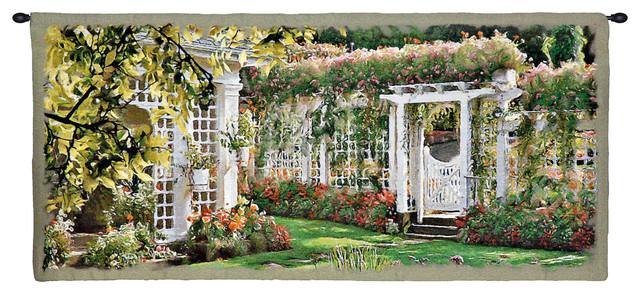 Jardin horizontal i tapestries by european wall art - Decoration jardin ottignies ...