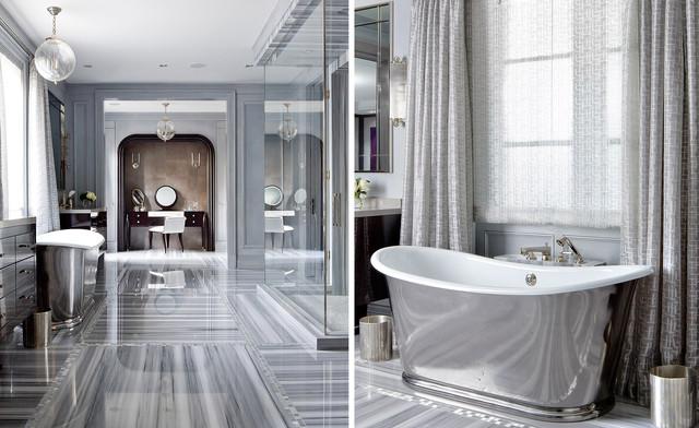 Upscale marble bathroom traditional bathroom toronto by brandon barr architectural - Bathroom design toronto ...