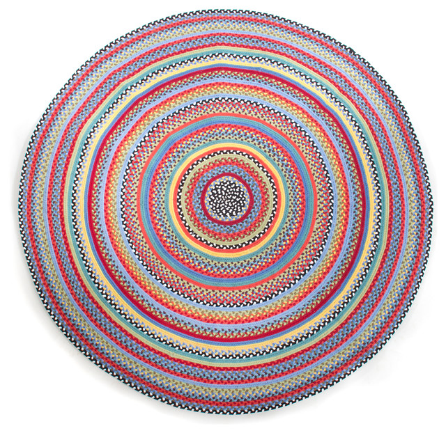 Crayon Braided Rug 6 Round Mackenzie Childs