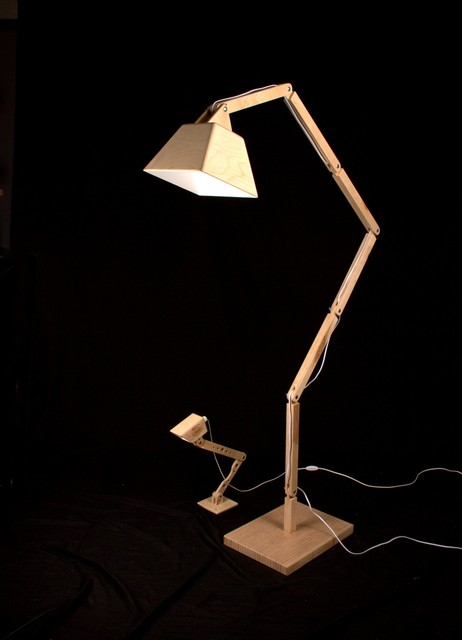 Wooden Floor Lamp Dl022 By Blackgizmo
