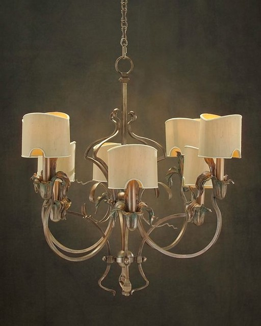 john richard 8 light chandelier ajc 8544 modern. Black Bedroom Furniture Sets. Home Design Ideas