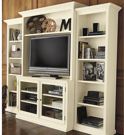Tuscan Media Set - 4 Piece - Transitional - Entertainment Centers And Tv Stands - by Ballard Designs
