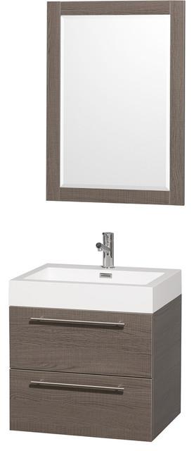 Amare 24 grey oak sgl vanity acrylic resin top - Muebles de lavabo ...