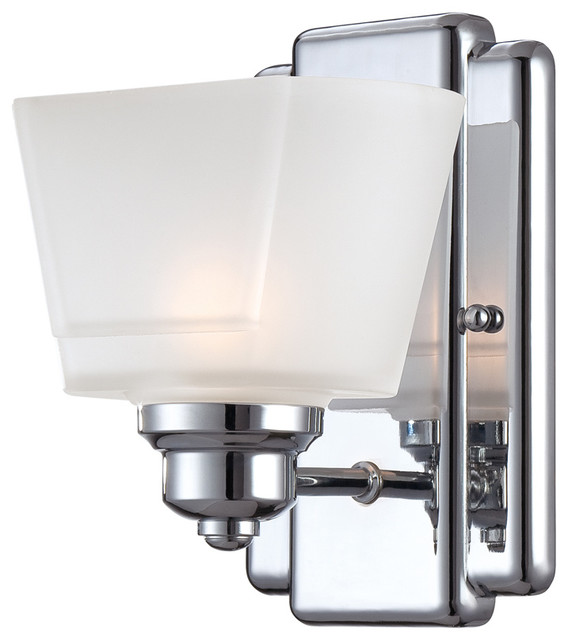 Transitional Bathroom Wall Sconces : Designers Fountain 6671-CH Wall Sconce - Transitional - Bathroom Vanity Lighting - by Lighting Front