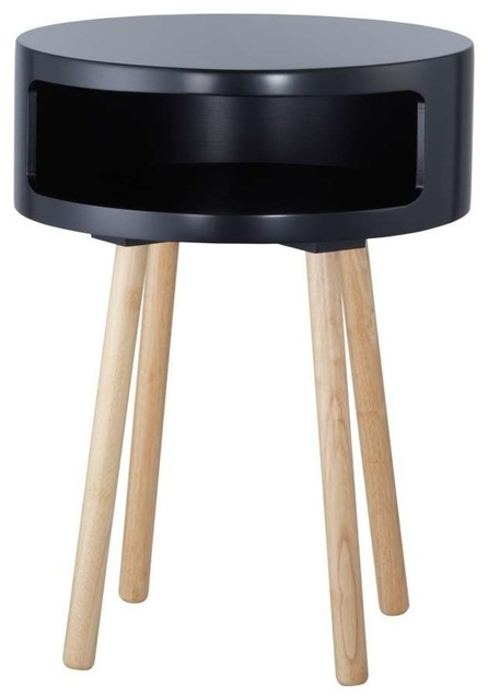 Adesso Collins Accent Table Black Contemporary Side Tables End Tables