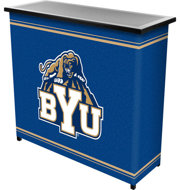 BYU 2 Shelf Portable Bar With Case - Contemporary - Wine And Bar Cabinets - by DCG WholeSale