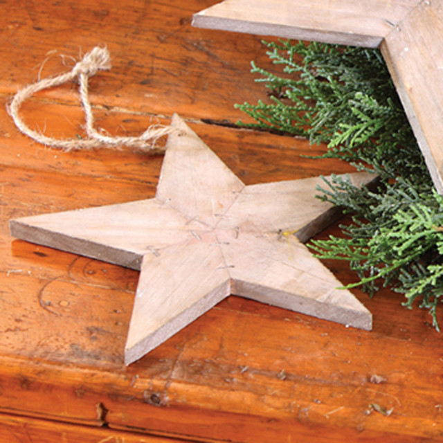 Reclaimed wood star ornaments rustic christmas