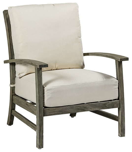 Charleston Outdoor Teak Outdoor Lounge Chair with Cushions Traditional Ou