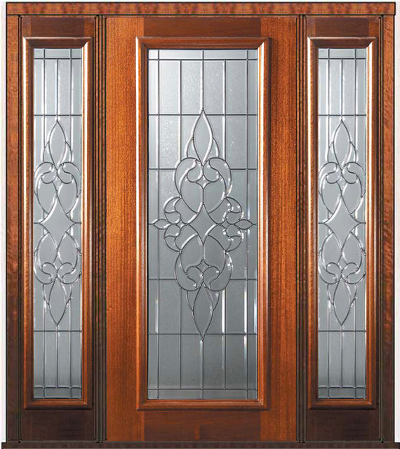 Prehung sidelights door 80 wood mahogany courtlandt full Prehung exterior door with sidelights