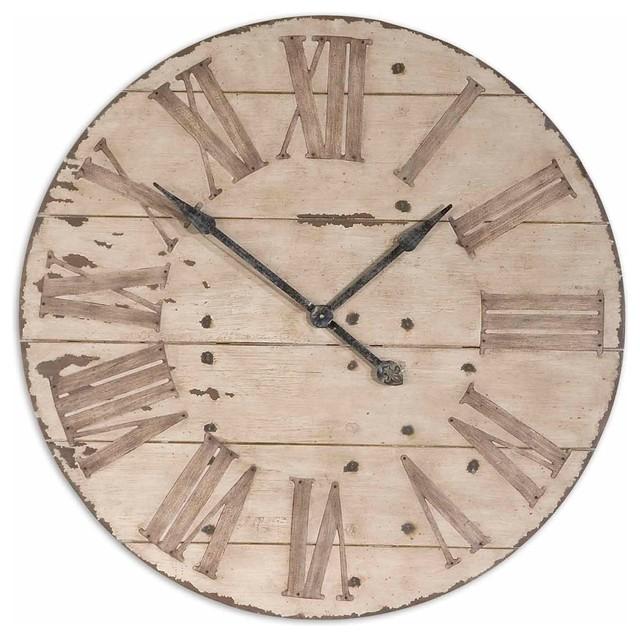 large 36 lanier rustic wood wall clock farmhouse wall