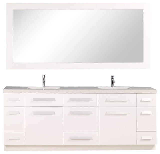Moscony Eight Single Sink Vanity Set Contemporary Bathroom Vanities And Sink Consoles By