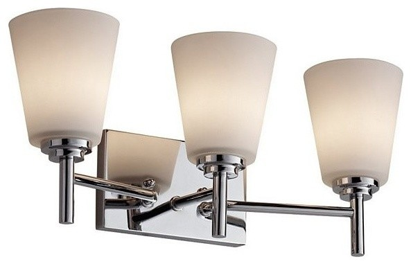 Vanity Light Bulb Strip : 3 Bulb Chrome Vanity Strip contemporary-bathroom-vanity-lighting