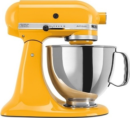 kitchenaid artisan stand mixer in yellow pepper contemporary mixers