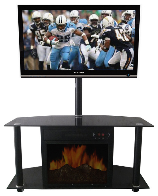 Manhattan Tv Stand Electric Fireplace Modern Indoor Fireplaces By Shop Chimney