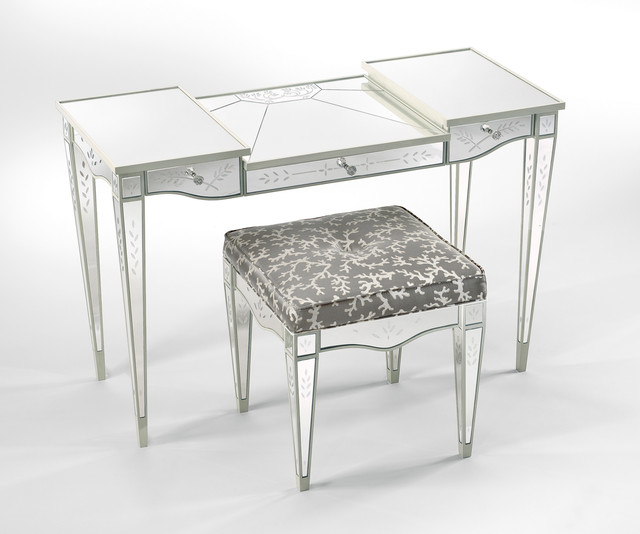 Lewiston Suite Mirrored Vanity Stool Art Harrison