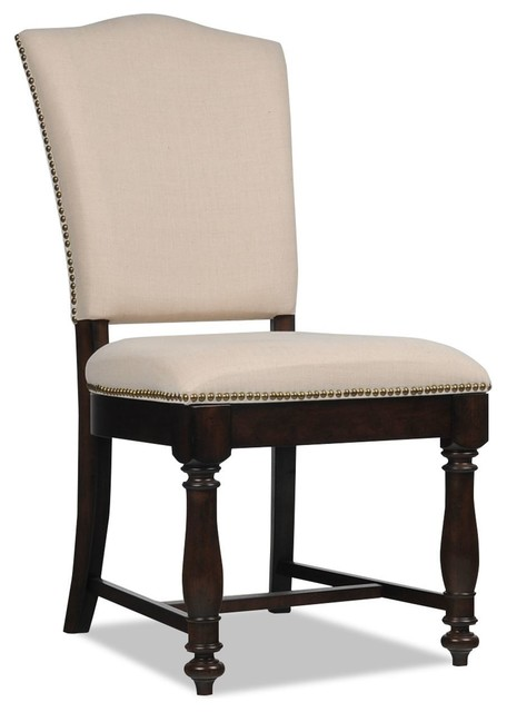 Traditional Upholstered Dining Chairs ~ Arlo upholstered side chair traditional dining chairs