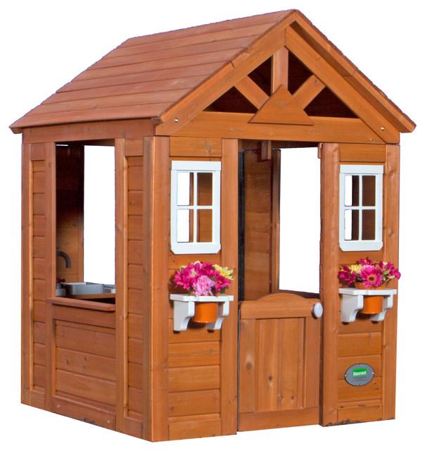 all cedar wood playhouse outdoor playhouses by backyard discovery