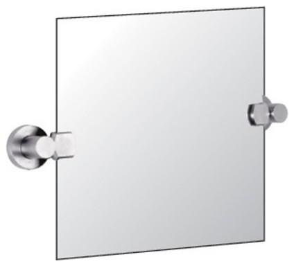 Watermark Loft Square Swivel Mirror Modern Bathroom Mirrors