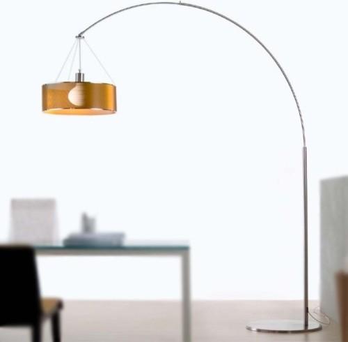 steel arc floor lamp modern floor lamps. Black Bedroom Furniture Sets. Home Design Ideas