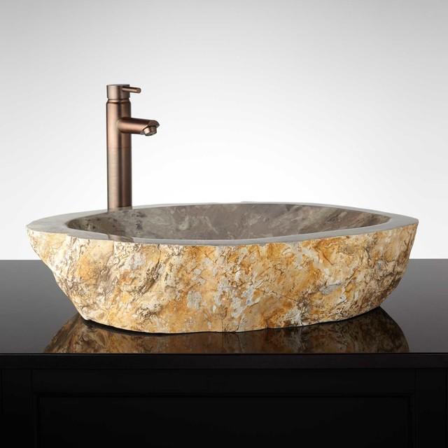 winnsboro natural stone vessel sink traditional bathroom sinks