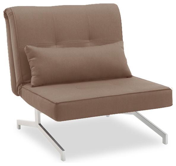 fauteuil convertible bz lit 1 personne brun contemporain fauteuil convertible et chauffeuse. Black Bedroom Furniture Sets. Home Design Ideas