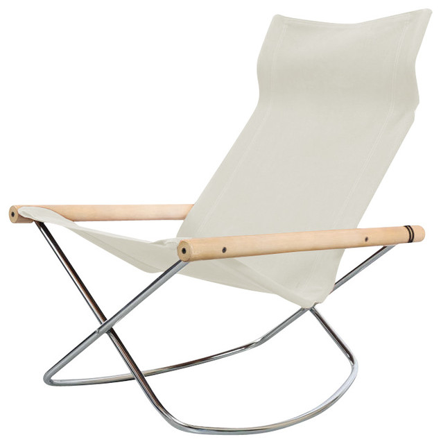 NY Rocking Chair White Modern Folding Chairs And Stools by Gessato