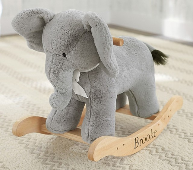 Elephant Plush Rocker Contemporary Kids Toys And Games
