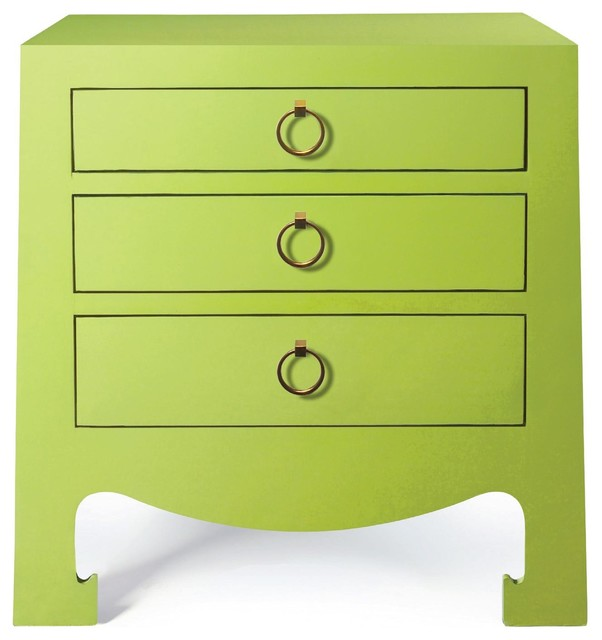 Bungalow 5 Jacqui 3 Drawer Side, Green - Modern - Accent Chests And Cabinets - by Candelabra