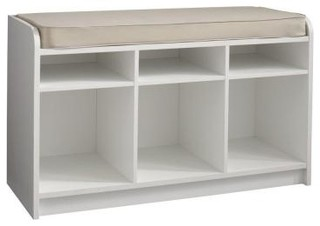 Martha Stewart Living 25 in. x 21 in. White Storage Bench with Seat 4903 - Contemporary - Closet ...
