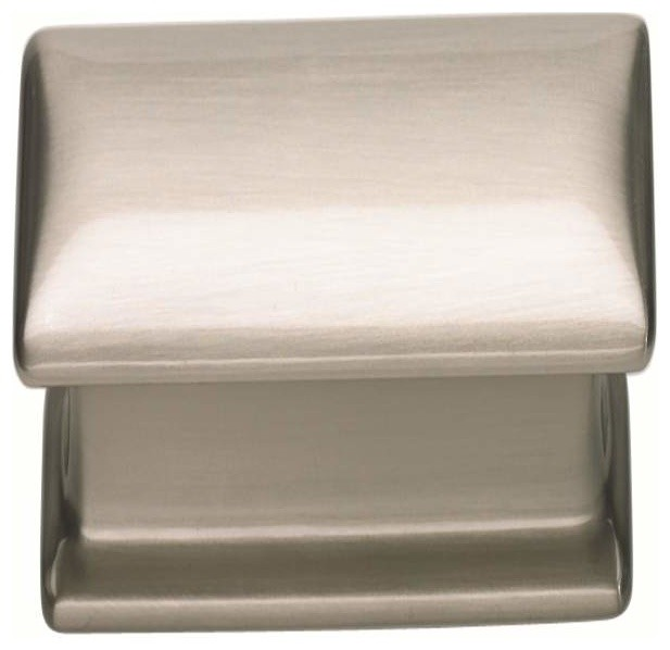 Atlas 323-Brn Alcott 4-Inch Long Square Door Pull Nickel - Cabinet And Drawer Handle Pulls - by ...