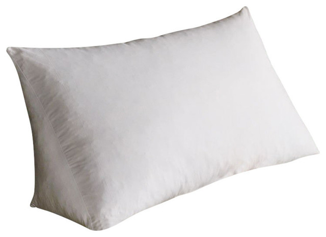 Reading Wedge Pillow White Poly Cluster Traditional