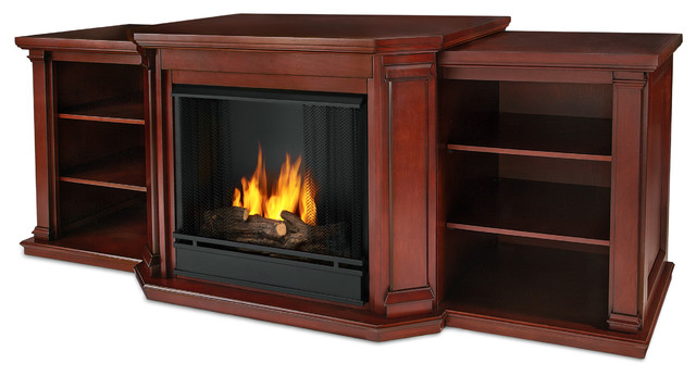 Valmont entertainment center ventless gel fireplace in for Ventless fireplace modern