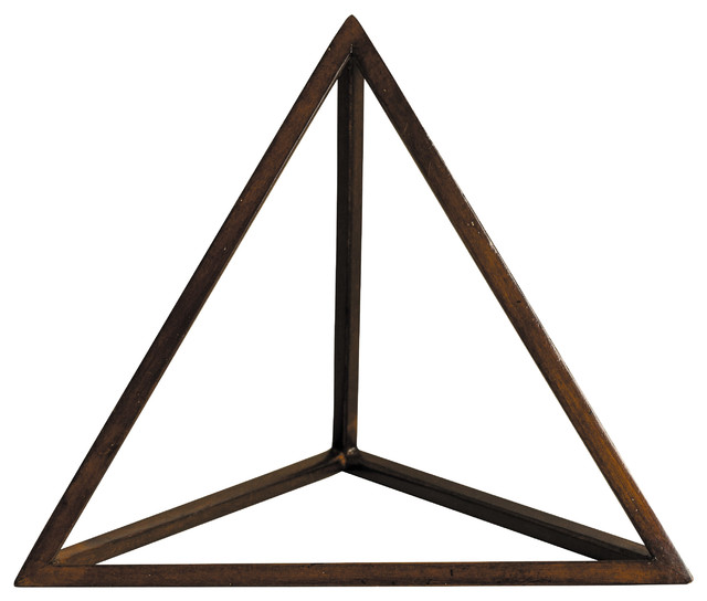 Tetrahedron model contemporary decorative objects and for Modern decorative objects