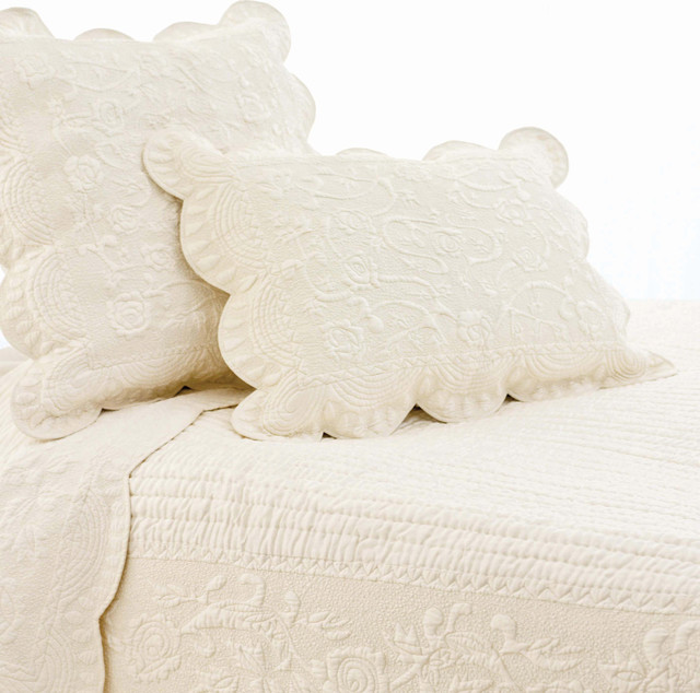 Pine Cone Hill Fanny Ivory Quilt Set - Modern - Beds - by Layla Grayce